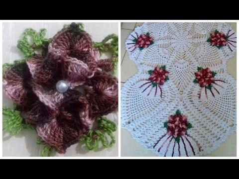 Flor Estrela -Toalha/Centro/Trilho/Caminho de Mesa em Crochê em Ponto Abacaxi Cristina Coelho Alves