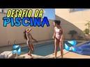 DESAFIO DA PISCINA com Nanda || Júlia Gomes