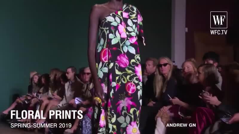 Floral prints _ Fashion trends spring-summer 2019