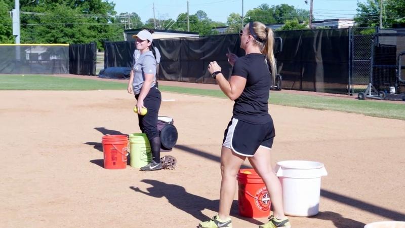 Youth Softball Fielding Footwork Drill Coach Christina Steiner Wilcoxson