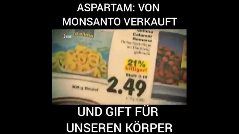Aspartam - Süßstoff, ein syntetisches hergestelltes Gift in Lebensmitteln E951