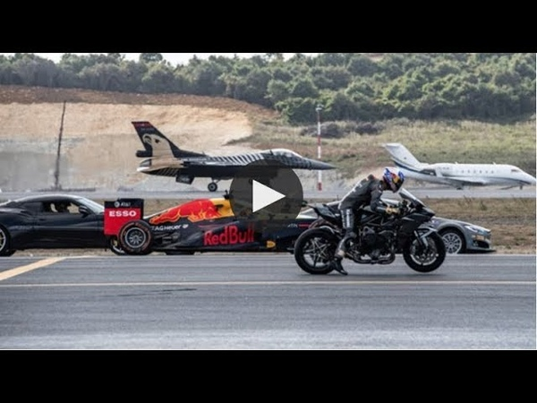 Kawasaki H2R vs F-16 Vs Tesla P100DL vs Challanger 605 vs Lotus Evora 430 GT