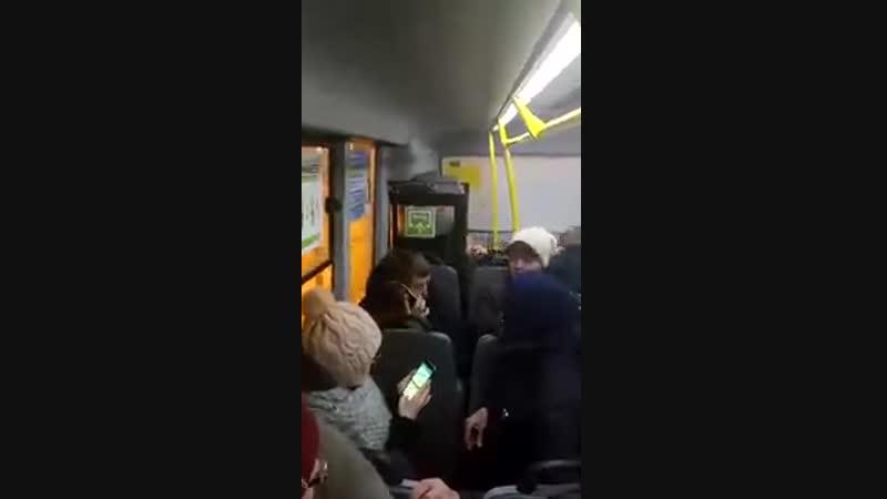 Замес в маршрутном такси Санкт Петербурга