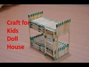 Matchstick Art and Craft Ideas How to Make Matchstick Miniature Furniture Double Bed