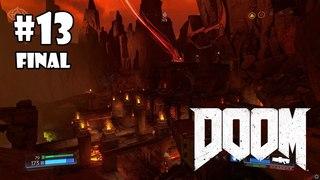 DOOM прохождение игры - Уровень 13 Финал: Колодец (All Secrets Found + 100%)