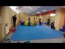 Новогодний праздник в Олимпия-Фит Клоун Клепа и Баба Яга с волшебным зонтиком