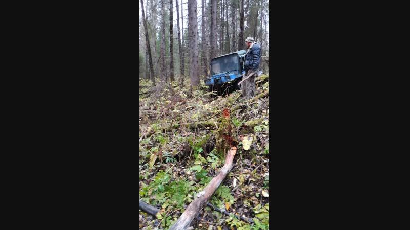 Болотоход в лесу 2