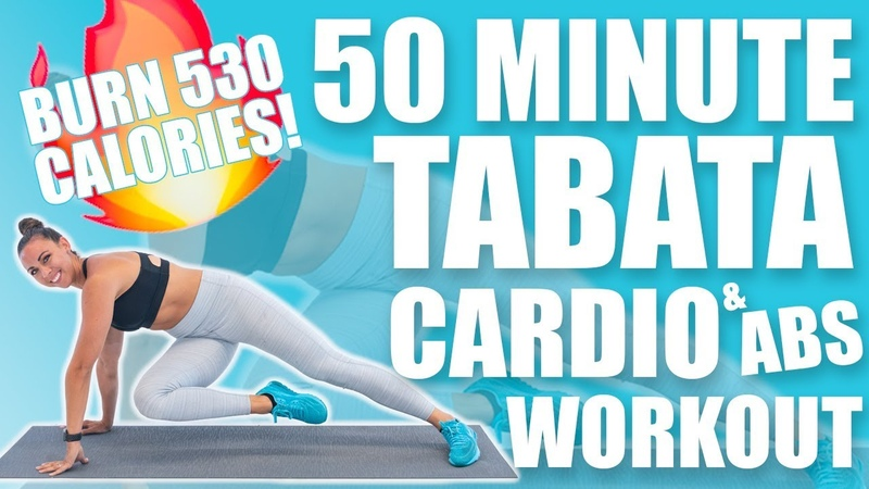 50 Minute Tabata Cardio and Abs Workout 🔥Burn 530 Calories!🔥