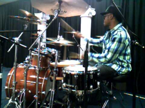 Lil Mike Mitchell drum check for his clinic. ft. his drum Technician Albert Slimm Brown
