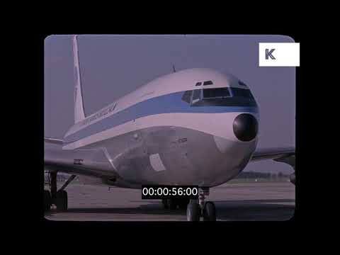1960s Prague Airport, Pan Am Planes, HD from 35mm