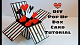 DIY Pop Up Box Card Tutorial Valentine Day Gift Idea (Highly Requested Video)