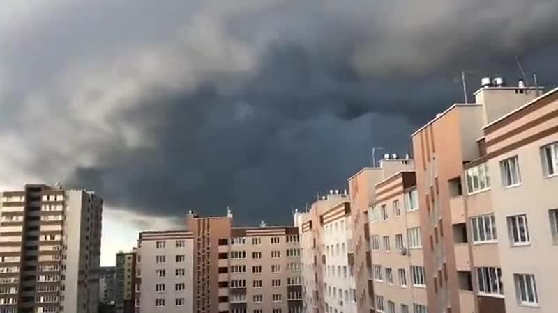 Грозовой вал в Калининграде