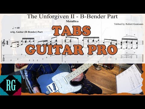 How to really play UNFORGIVEN II by Metallica - TABS/GUITAR PRO LESSONCover