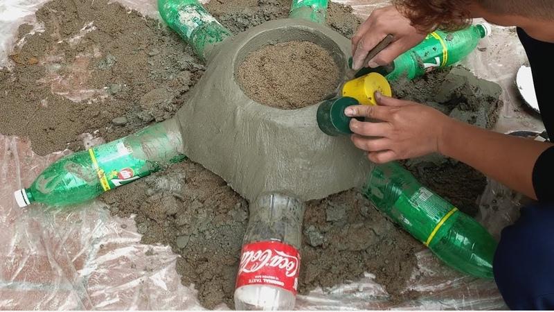 ❤️❤️❤️ DIY flower pots at home❤️❤️❤️ ❤️❤️❤️Idea of making cement flower pots Garden design ideas