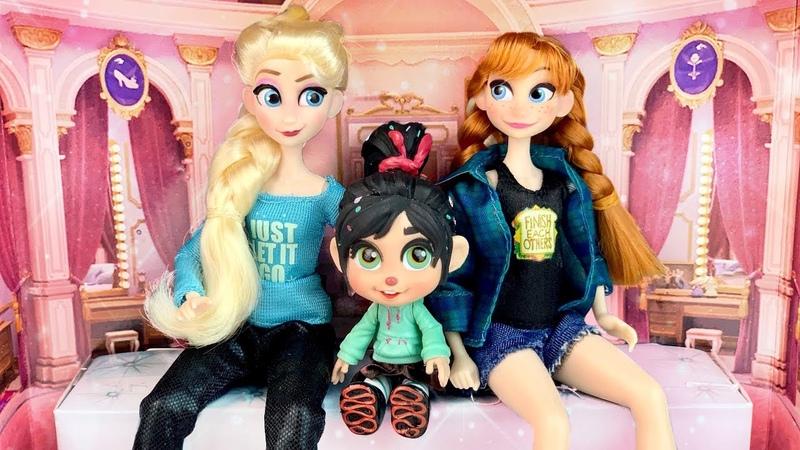Anna Elsa: Ralph Breaks the Internet Princesses mini Dolls Review Unboxing