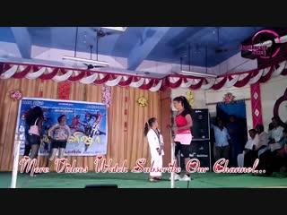 Little man dancing with tall beautiful girls