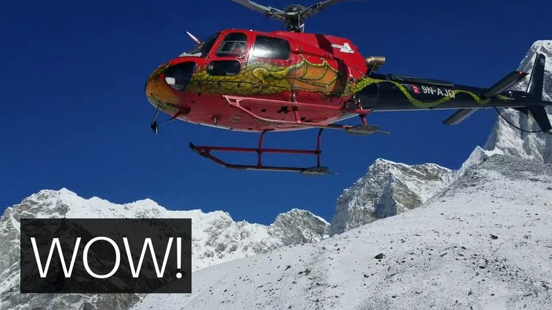 Everest Base Camp (Gorak Shep) HELICOPTER EVACUATION to Lukla Nepal 2018