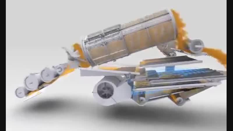Зерноуборочный комбайн ТОРУМ - анимация системы обмолота ARS