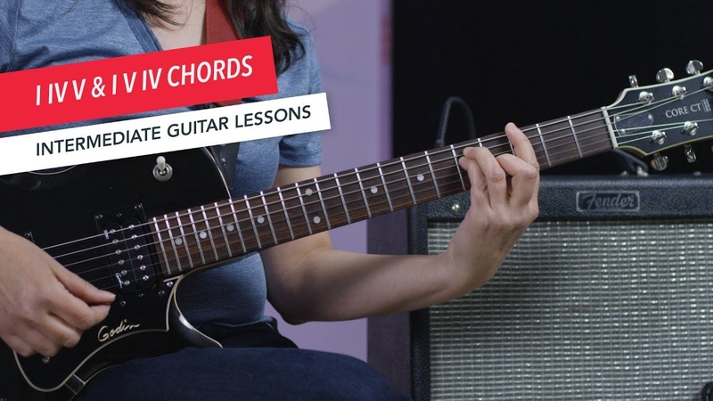 How to Play Guitar: Playing I-IV-V I-V-IV as Open or Barre Chords | Intermediate | Guitar Lessons