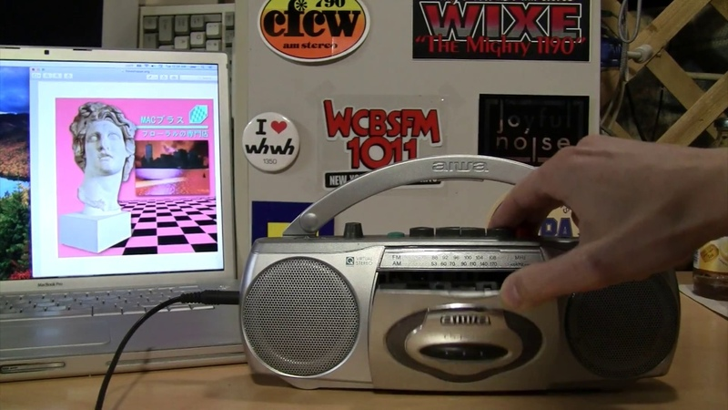 This tiny boombox turns any cassette into vaporwave