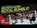 WWE 2K19: Big Head Mode Royal Rumble Match! (Full Match Gameplay)