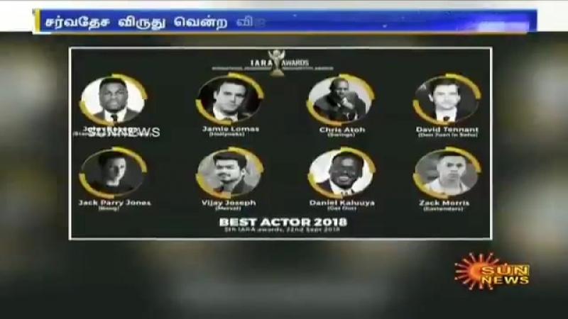 Канал Sunnews о победе Виджая на IARA Awards 2018