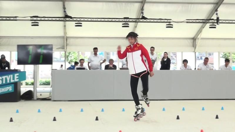 20180704/Group 6/1s round/Inline Freestyle Slalom Battle/ Bogdanova/Torokhova/Qin Yu Qing