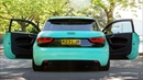 Audi A1 in Tiffany Blue on Satin Black wheels by 3SDM