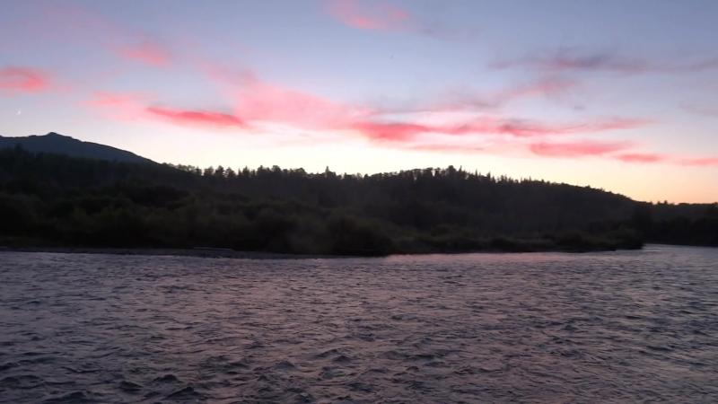 закат на реке ПЫЖА