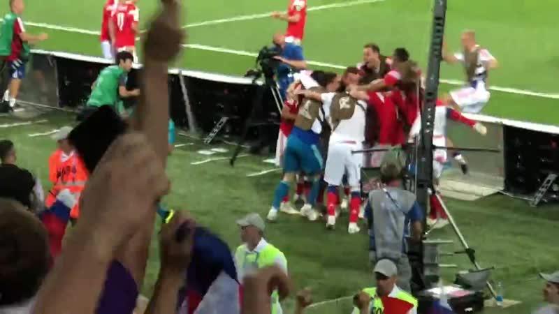Россия Хорватия Марио Фернандес сравнивает счёт 2 2