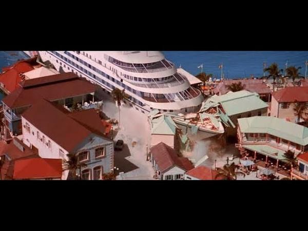 Корабли на полной скорости врезаются об берег, таранят друг друга.The ship is embedded on the shore.