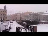 Февраль. Снег. Зеленый мост