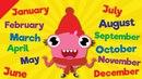 Months of the Year Song   Learn the 12 Months   Kindergarten, Preschool ESL   Fun Kids English