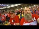 Освящение фанатской трибуны футбольного стадиона СПАРТАК , в день его открытия 5 сентября 2014 г.