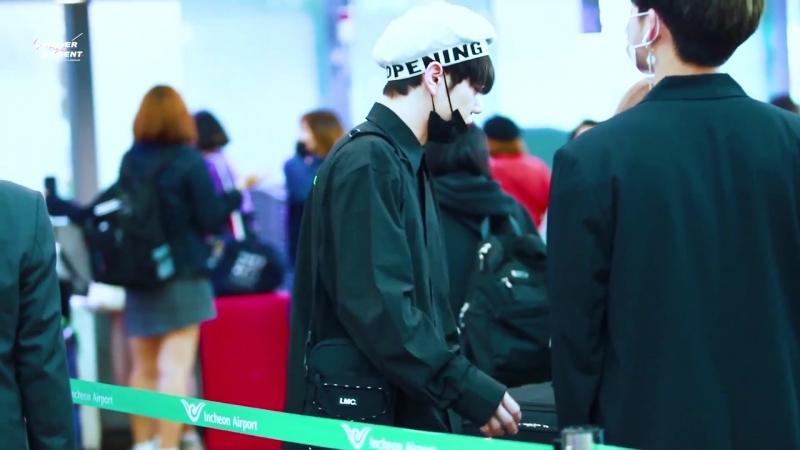 FANCAM | 21.09.18 | Byeongkwan @ Incheon Airport, departure to Taiwan