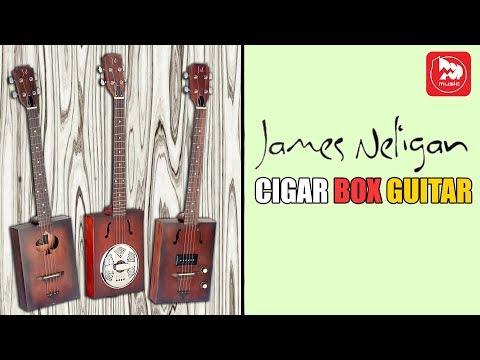 Необычные Сигарбокс гитары JAMES NELIGAN CASK ( Cigar Box Guitar )
