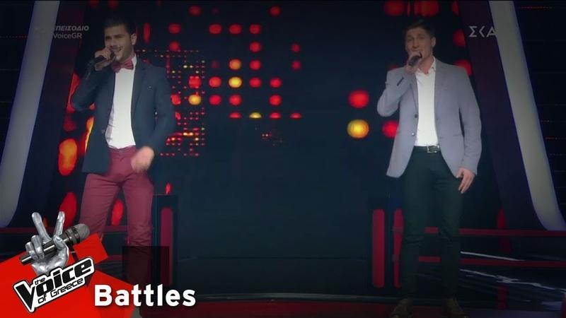 Μάριος Παστελλής vs Στέλιος Μοσχοτόγλου - Μωρό μου   1o Battle   The Voice of Greece