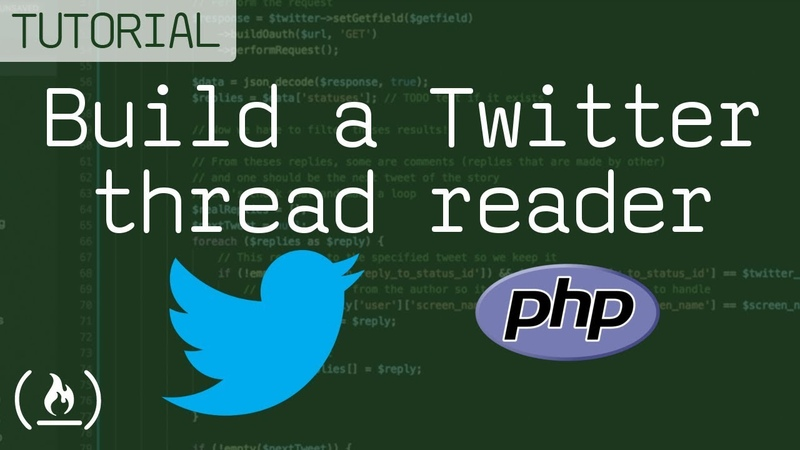 Build a Twitter thread reader using PHP (tutorial)