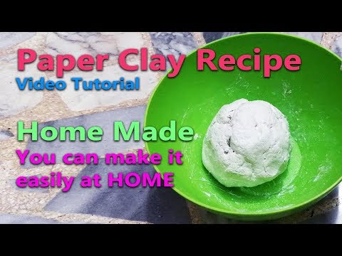 Diy Paper Clay recipe without joint compound tutorial - How I make my own Paper Clay - No Cracking