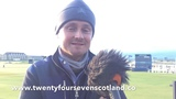 Keane vocalist Tom Chaplin talks about his round at St Andrews today