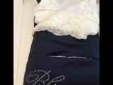 Конверт одеяло на выписку Blumarine , синий, с меховым коконом, чепчик Арт (2)Конверт на выписку