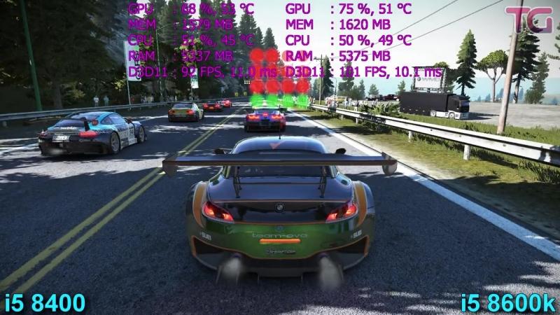 [Testing Games] i5 8400 vs i5 8600k Test in 7 Games (GTX 1070)
