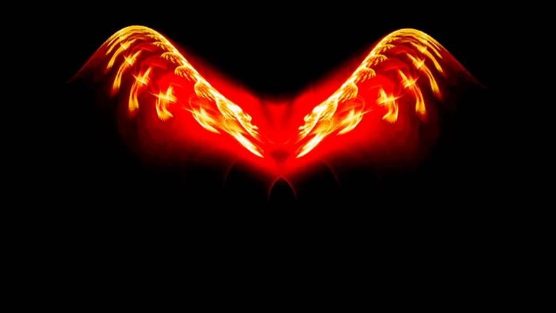 Футаж Крылья красные