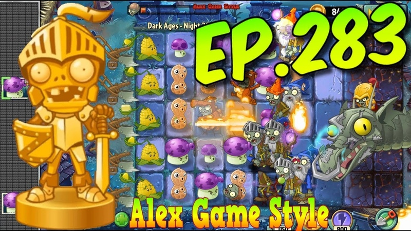 Plants vs. Zombies 2 || Zombot Dark Dragon - Defeat ZomBoss - Dark Ages Night 20 (Ep.283)
