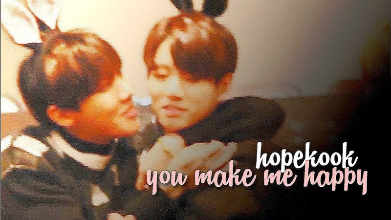Hopekook/junghope | you make me happy (re-upload)