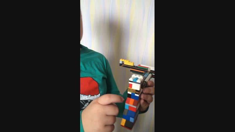 Арбалет из Лего белая стрела