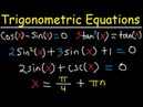 Solving Trigonometric Equations Using Identities, Multiple Angles, By Factoring, General Solution