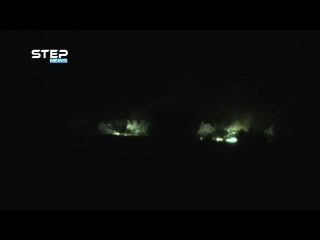 Syria heavy artillery shelling tonight in N. Hama CS btwn Rebels Regime video. Multiple ci