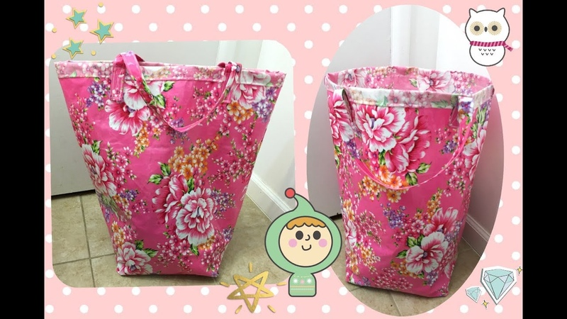 Diy waterproofs Laundry bag sewing project No.22