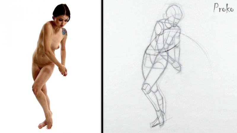 Proko Figure drawing fundamentals - 09 Exaggeration - Exaggeration-step-by-step-premium-720p